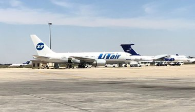 UT Air Aircraft on Tarmac Damascus International Airport