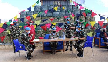 DFC UNDOF Brig Gen Maureen O Brien officiates the NEPCON HOTO
