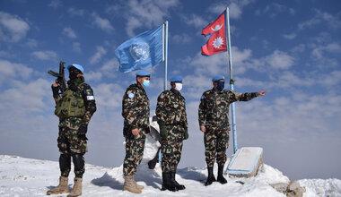 Lt Gen Ishwar Hamal is given an orientation brief by OC NEPCON