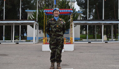 UNDOF's Deputy Force Commander Brigadier General Maureen O Brien