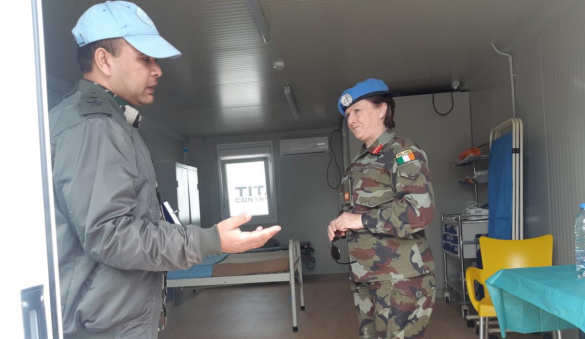 A/FC Brig. Gen. Maureen O'Brien visit to COVID-19 isolation facility in UNDOF