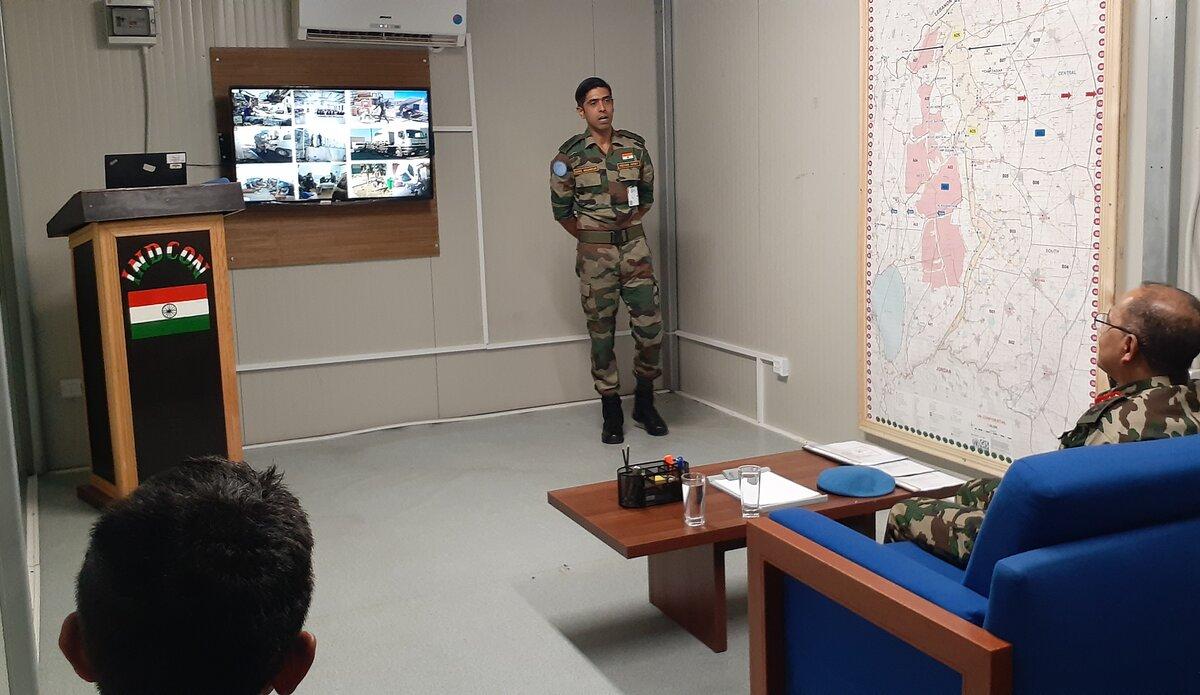INDCON Commander Lt Col Suhel Nagarkar briefing HoM/FC.