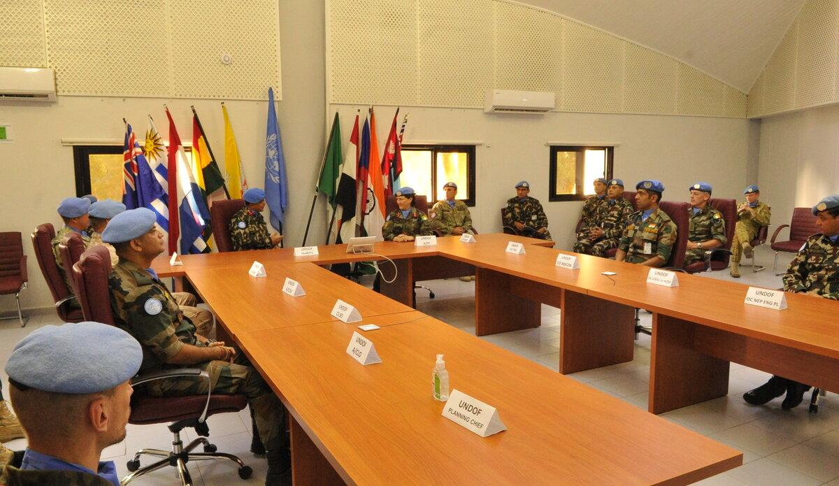 Force Commander Handover Takeover between New FC Maj Gen Ishwar Hamal and A/FC Brig Gen Maureen O' Brien