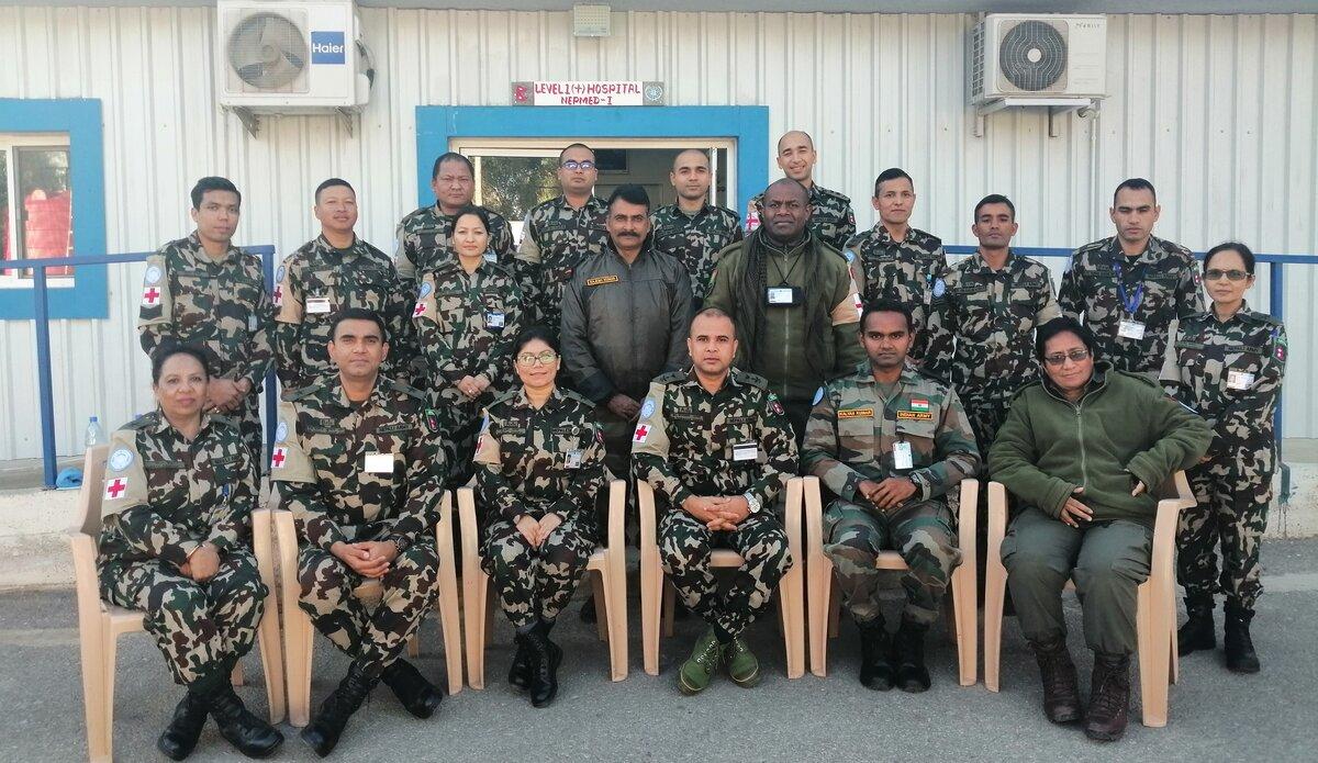 UNDOF Medical Team on Basic First Aid Responder Course