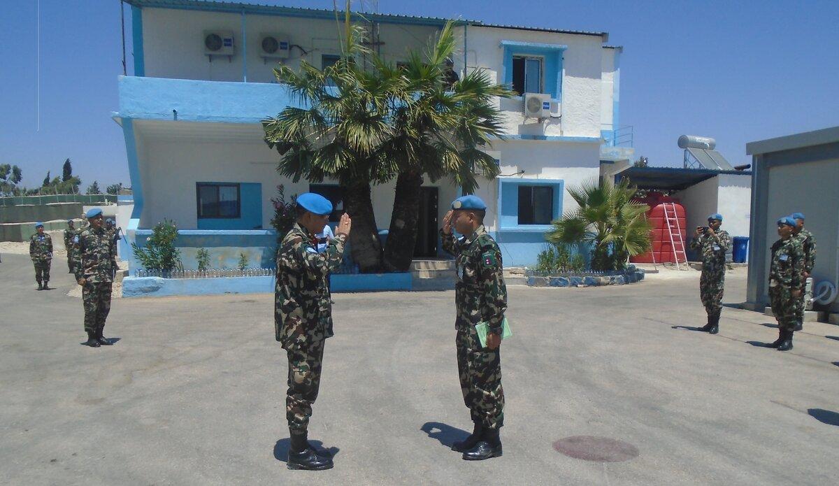 UNP 27 Commander Reporting HoM/FC at UNP 27.