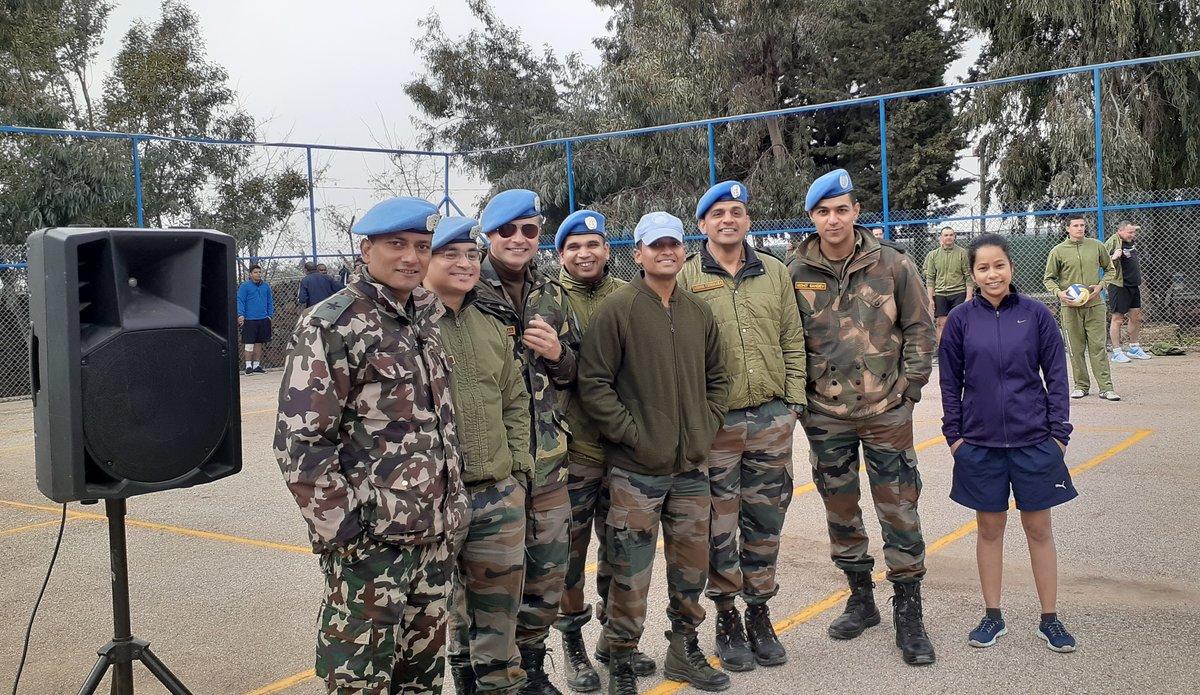 UNDOF Members cheering and enjoying the games.