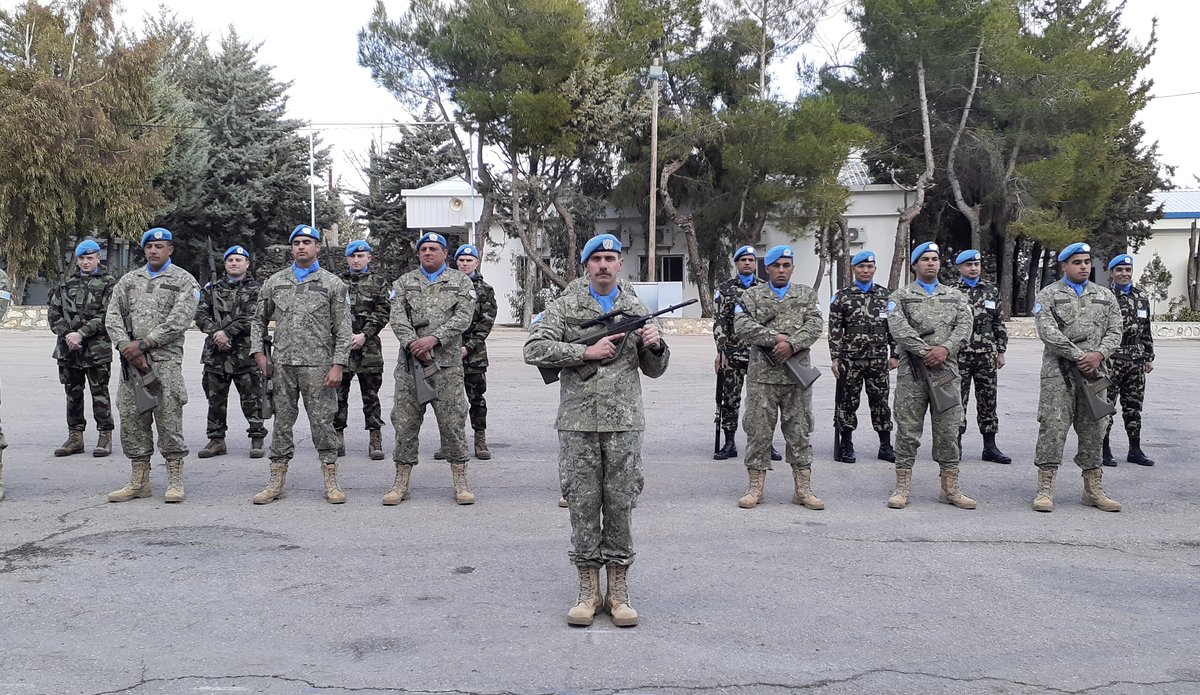 Honor Guard Drawn from UMIC, FRC and NMC ready to Celebrate Stand Down and HOTO of Chief Of Staff UNDOF