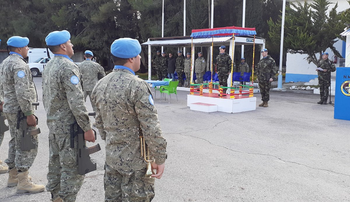 Brig Gen M O Brien A/FC UNDOF arrives on parade to officiate the ceremony