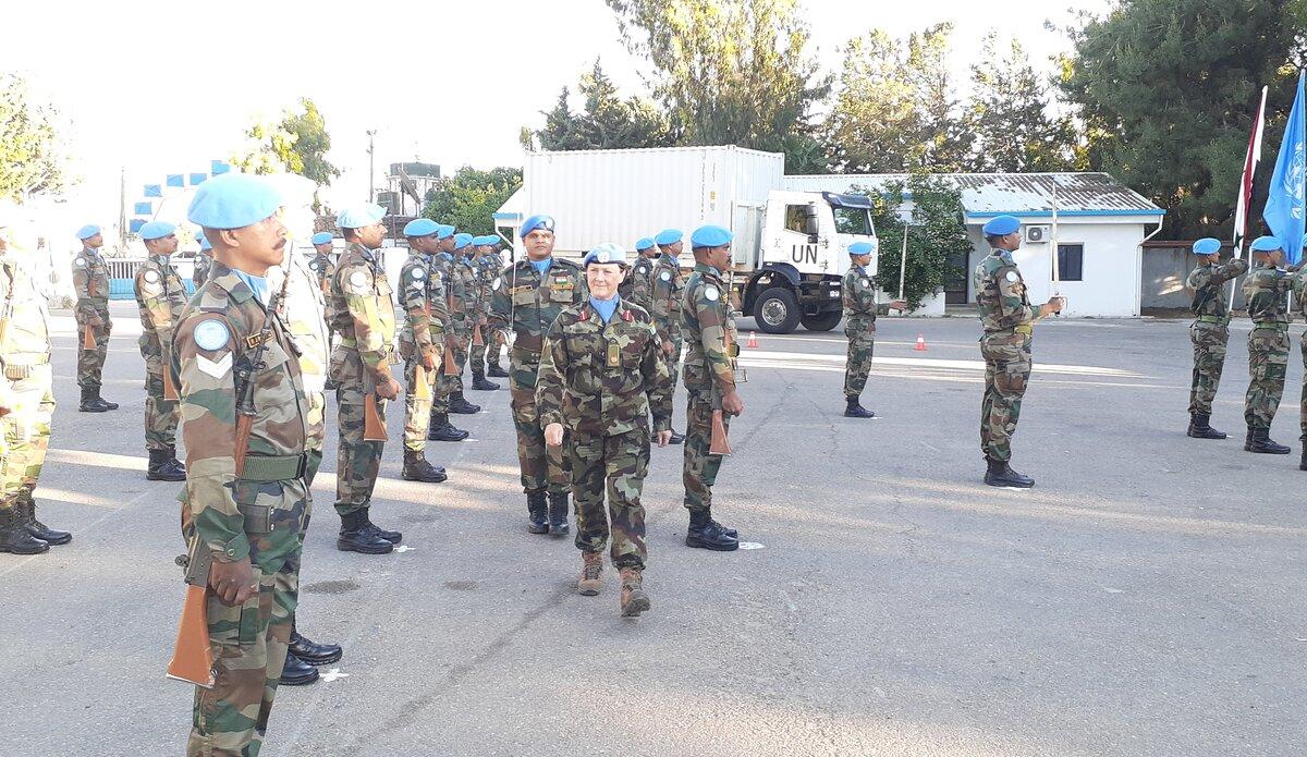 Parade Inspection by A/FC Brig. Gen. Maureen O'Brien, UNDOF.