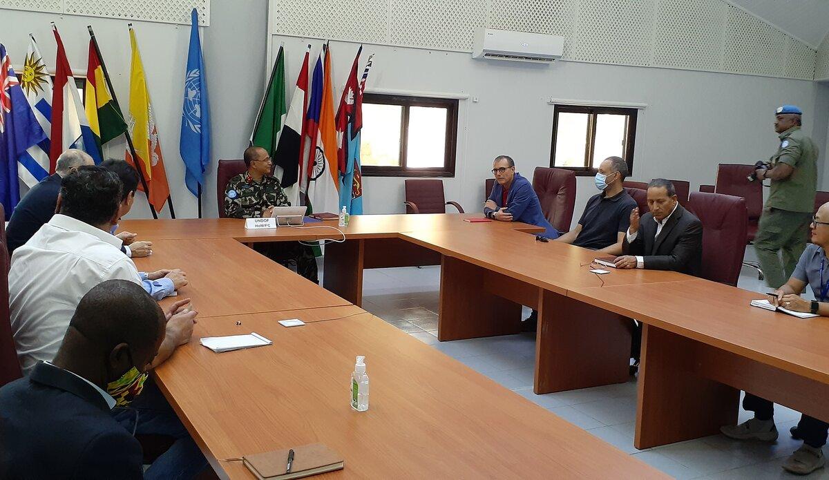 UNDOF HoM & FC Maj Gen Ishwar Hamal in Meeting with Civilian Section Chiefs.