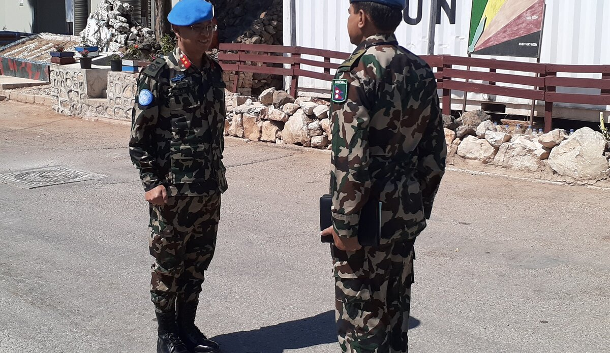 NMC CO Lt Col Jayson Shamsher J.B.Rana Reporting HoM/FC Maj Gen Ishwar Hamal.