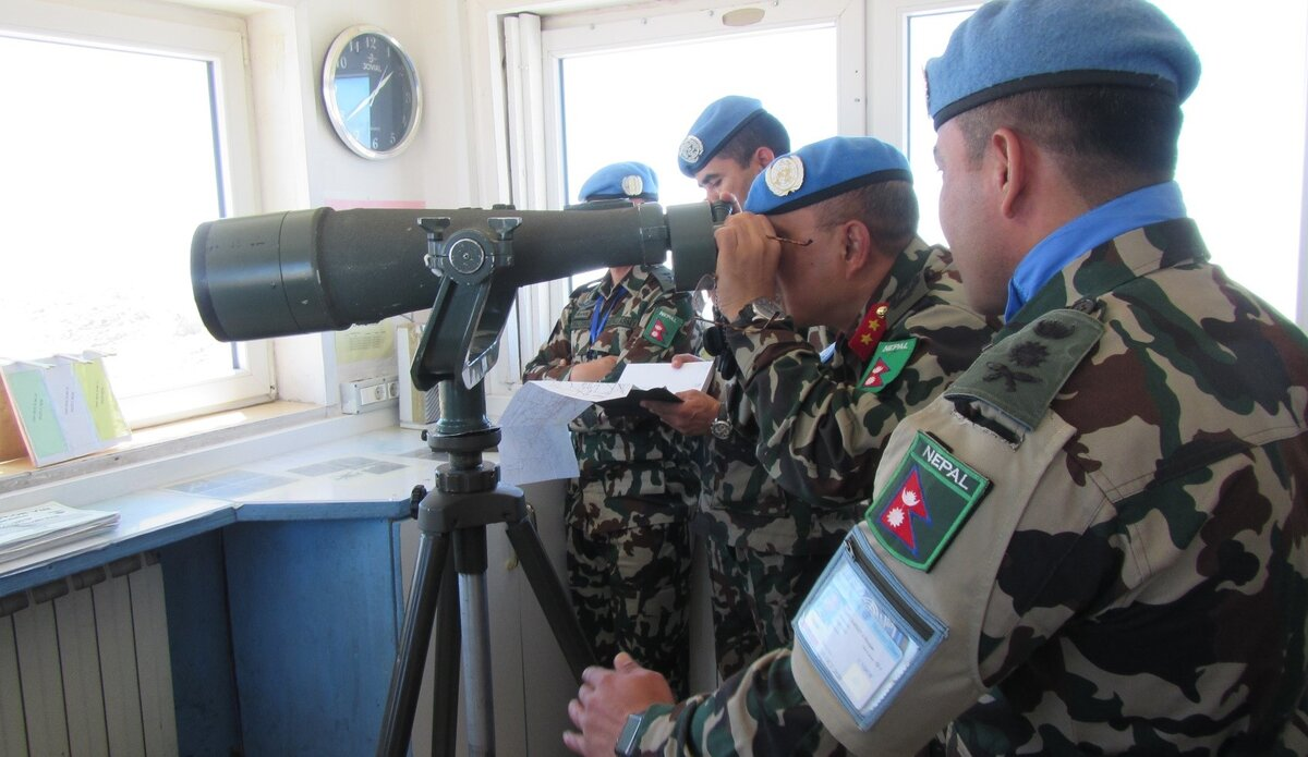 HoM/FC Major General Ishwar Hamal Observing the AOR from Hermon South.