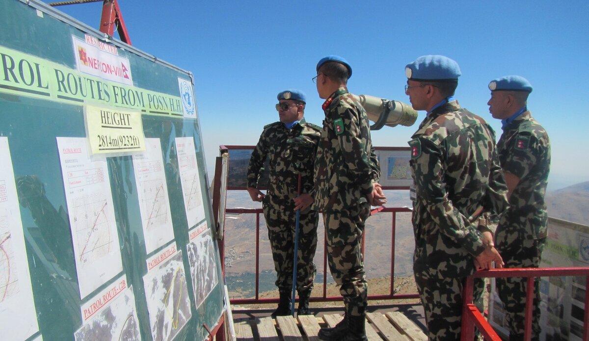 Hermon Hotel Commander Captain Bimal Pandit briefing HoM/FC.