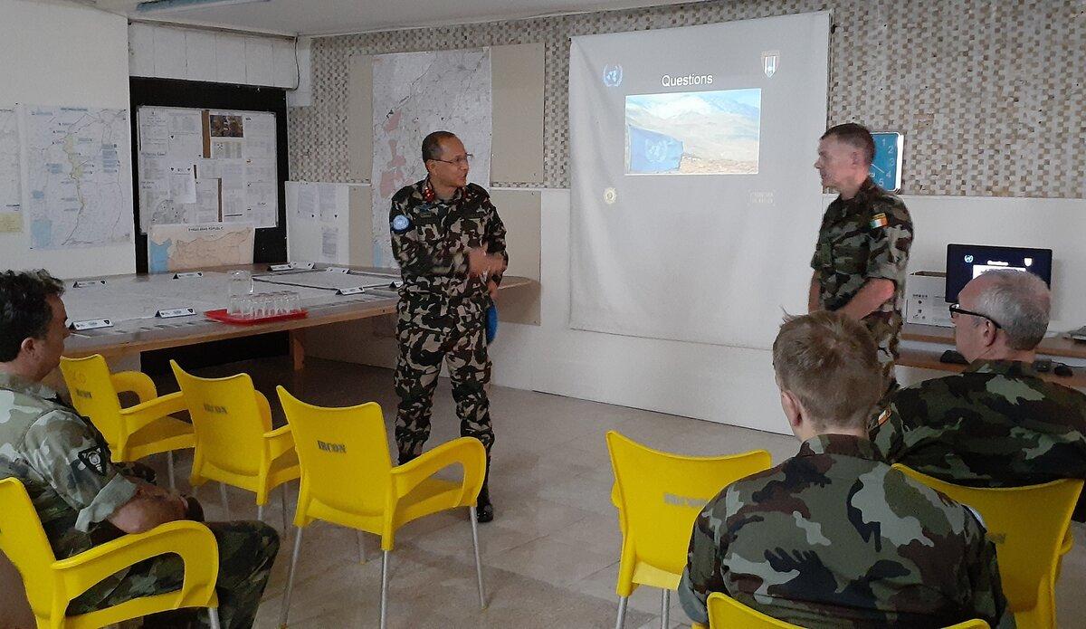 HoM/FC Maj Gen Ishwar Hamal Addressing FRC.