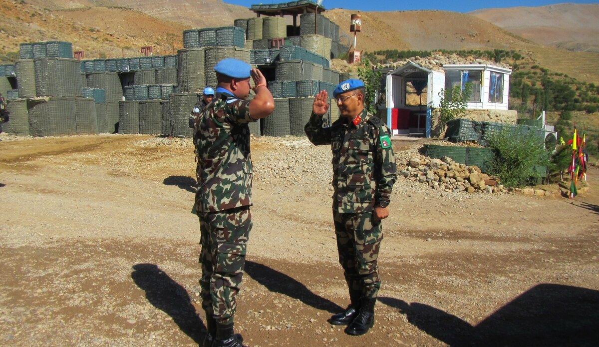 CO NEPCON-VIII Lt Col Madan Neupane Reporting HoM/FC Major General Ishwar Hamal.