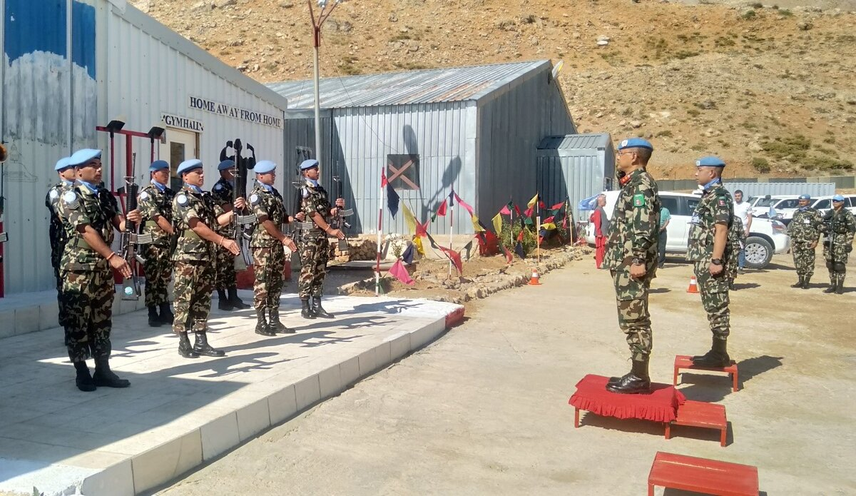 Guard of Honor to HoM/FC Major General Ishwar Hamal in Position 12 A.