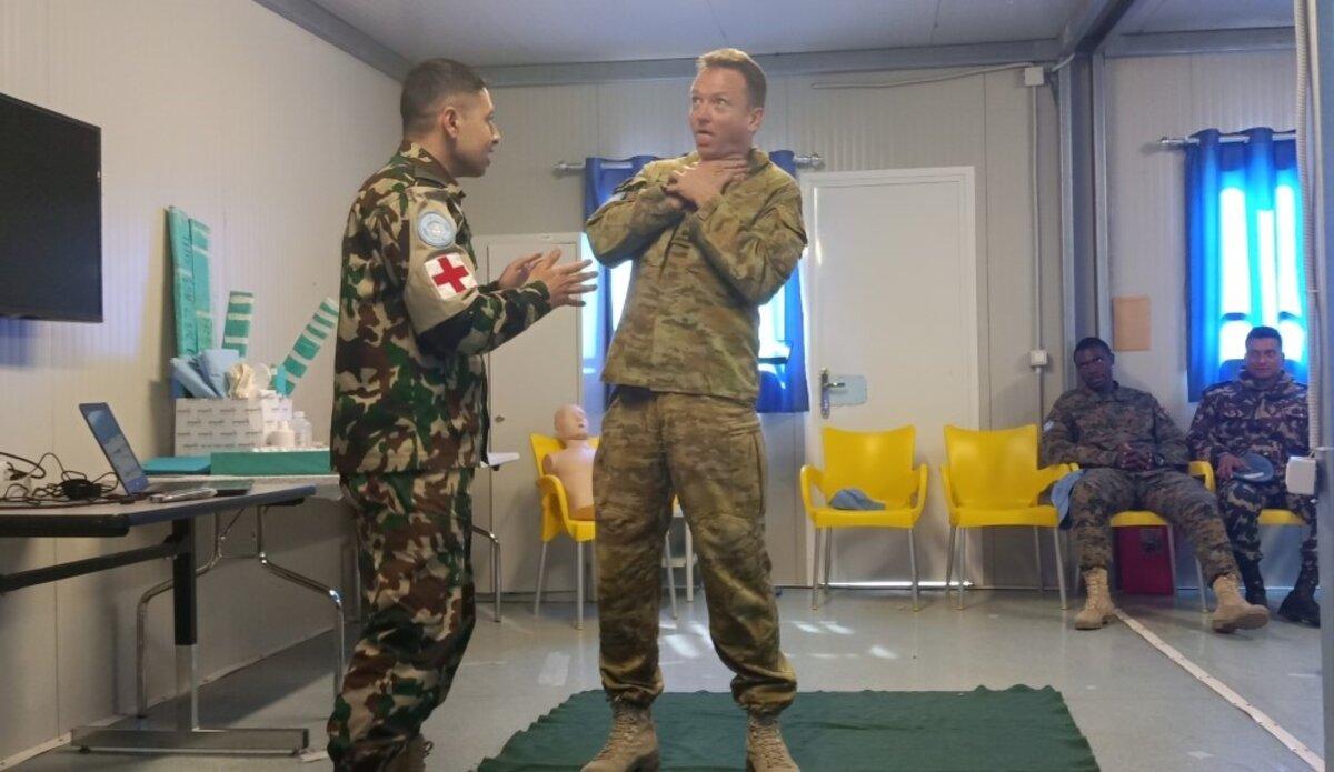 First Aid Training: Choking Demonstration