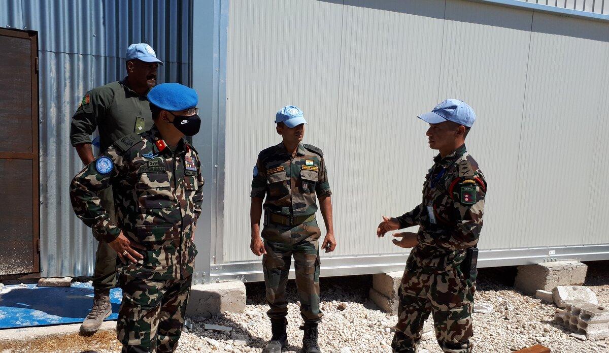 UNP 60 Commander Captain Rohit Bhandari briefing to HoM/FC.