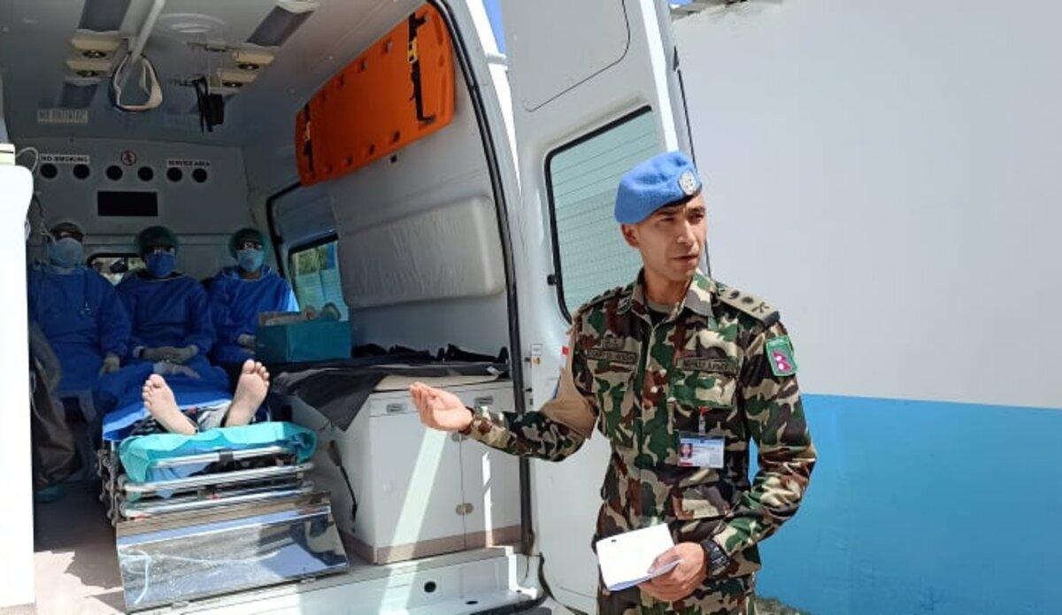 COVID -19 Response and Preparedness Demonstration Briefing by Capt. Dr. Ayush Rayamajhi
