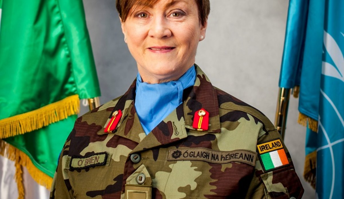 Acting Force Commander Brig Gen Maureen O Brien