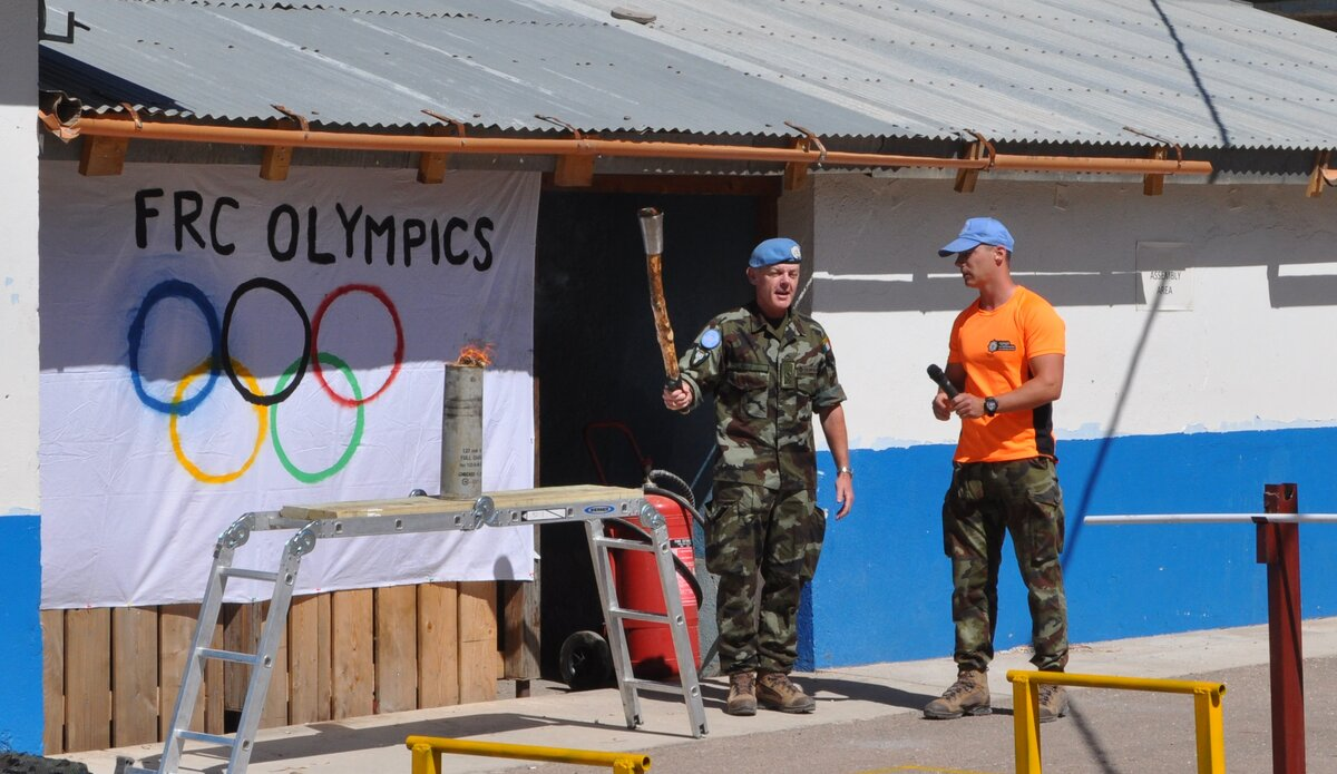 O/C FRC Lt Col R Keily officially opened the games.