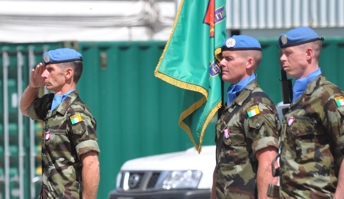 RSM G Luttrel salutes the A/FC as she departs the parade.