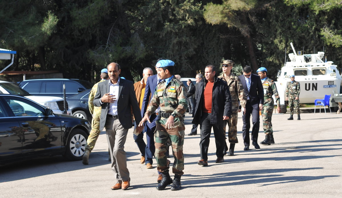 Guests arrive to Camp Faouar for Diplomats Day 2020