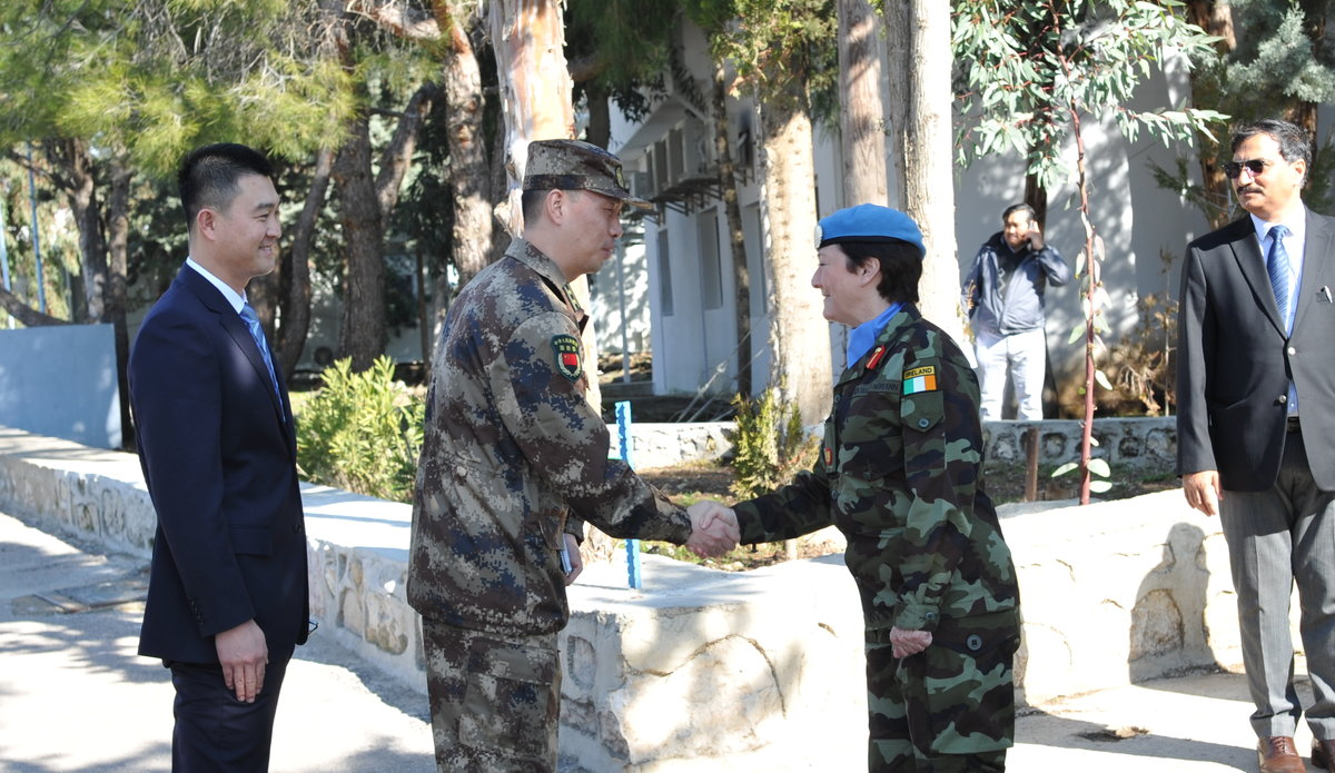 A/FC Brig Gen M O Brien welcomes delegates to the Diplomats Day hosted by UNDOF in Camp Faouar