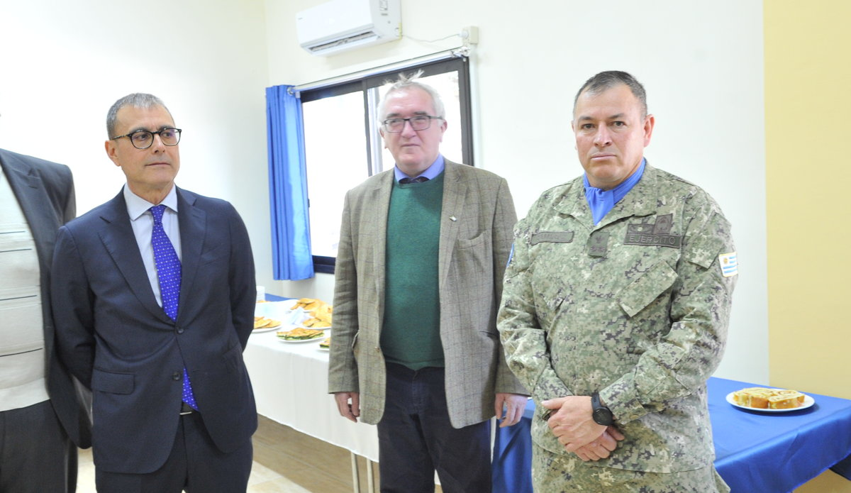 Mr Amedeo Marcli CLSO UNDOF, Mr Bernard Lee CMS and A/HoM UNDOF and Lt Col Ramirez Commanding Officer UMIC at  Diplomats DAY 2020.