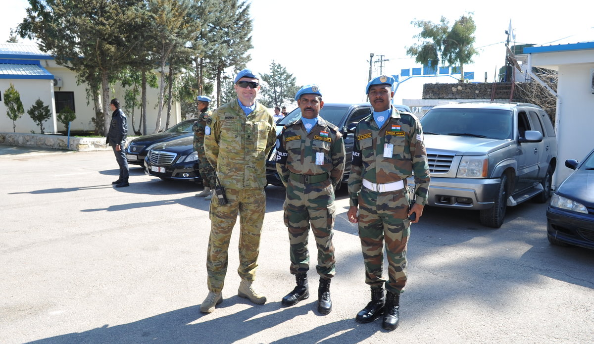 Maj A Banks FPM with MP Staff during Diplomats Day 2020.