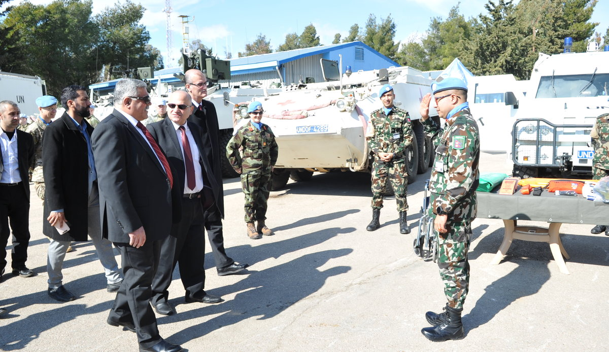 FMO UNDOF greets Delegates to the Role 1 + Capability Display.