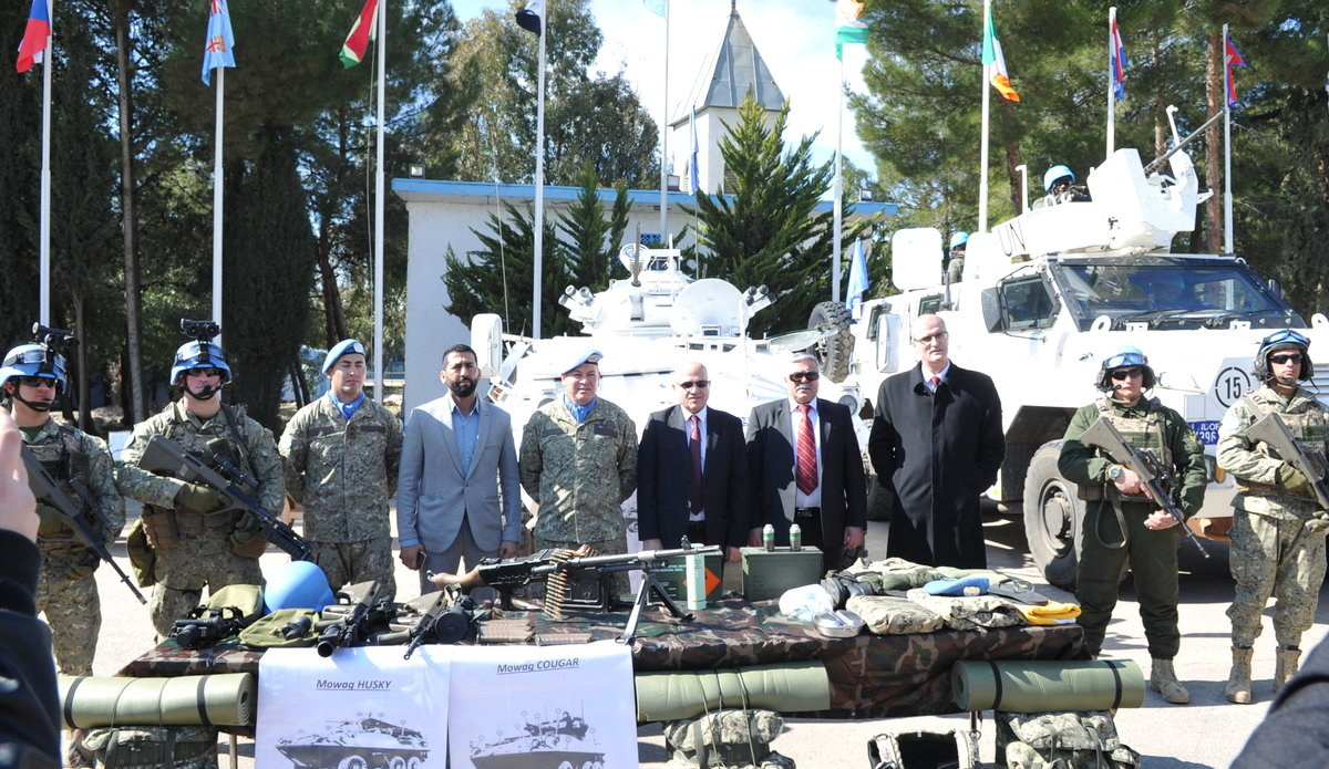 Delegates and UMIC Peace Keepers pose during Diplomats Day 2020