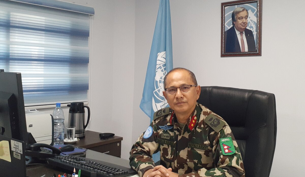 UNDOF Head of Mission and Force Commander Major General Ishwar hamal