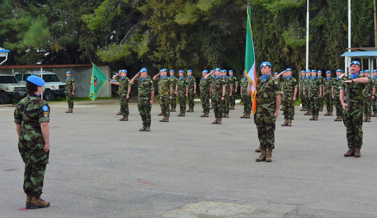 Lt Col Oliver Dwyer O/C FRC hands over the parade to A/FC Brig Gen M O.Brien