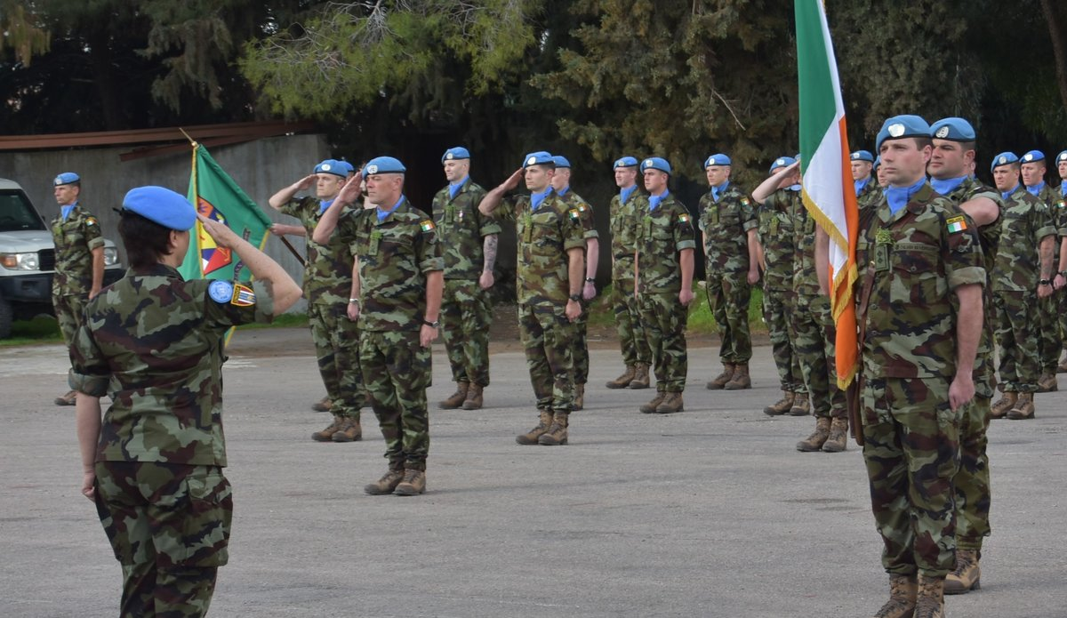 A/FC Brig Gen M O Brien dismisses the parade after the ceremony