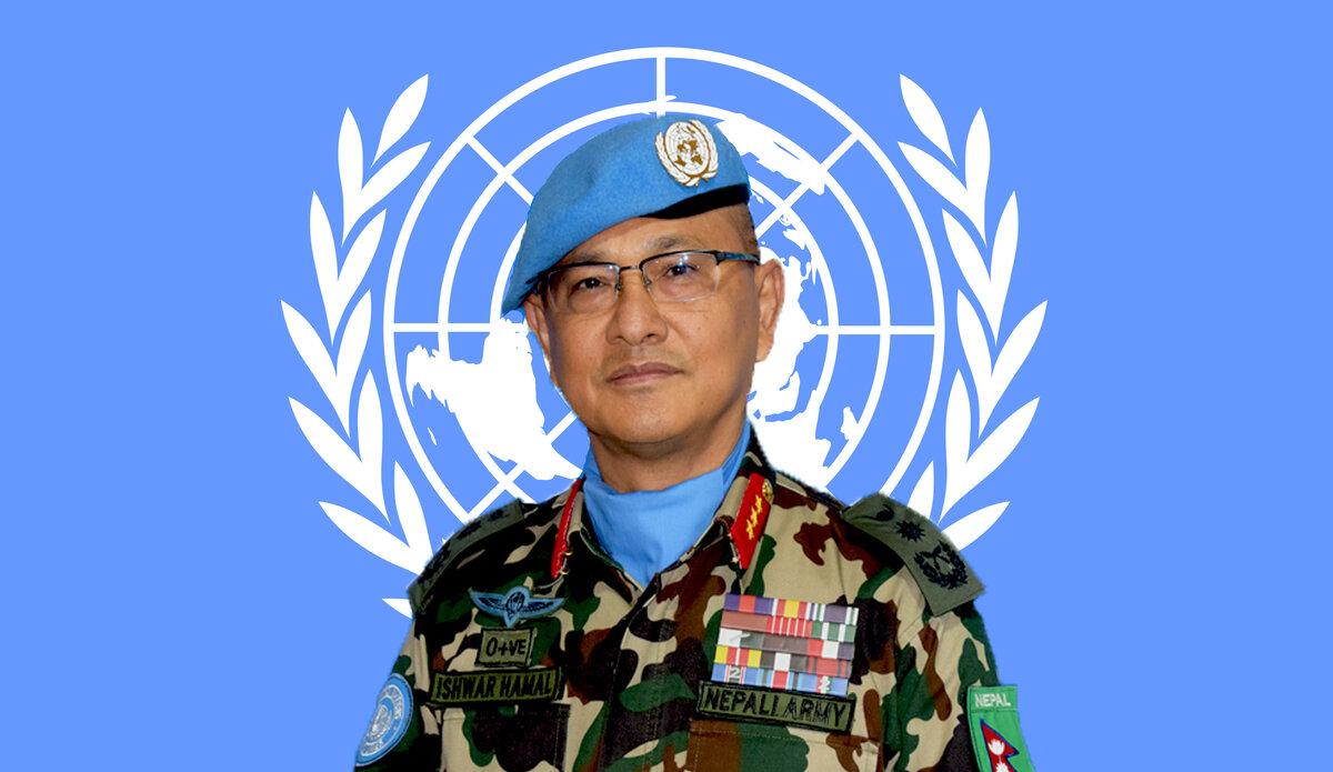 Head of Mission and Force Commander Lieutenant General Ishwar Hamal, UNDOF