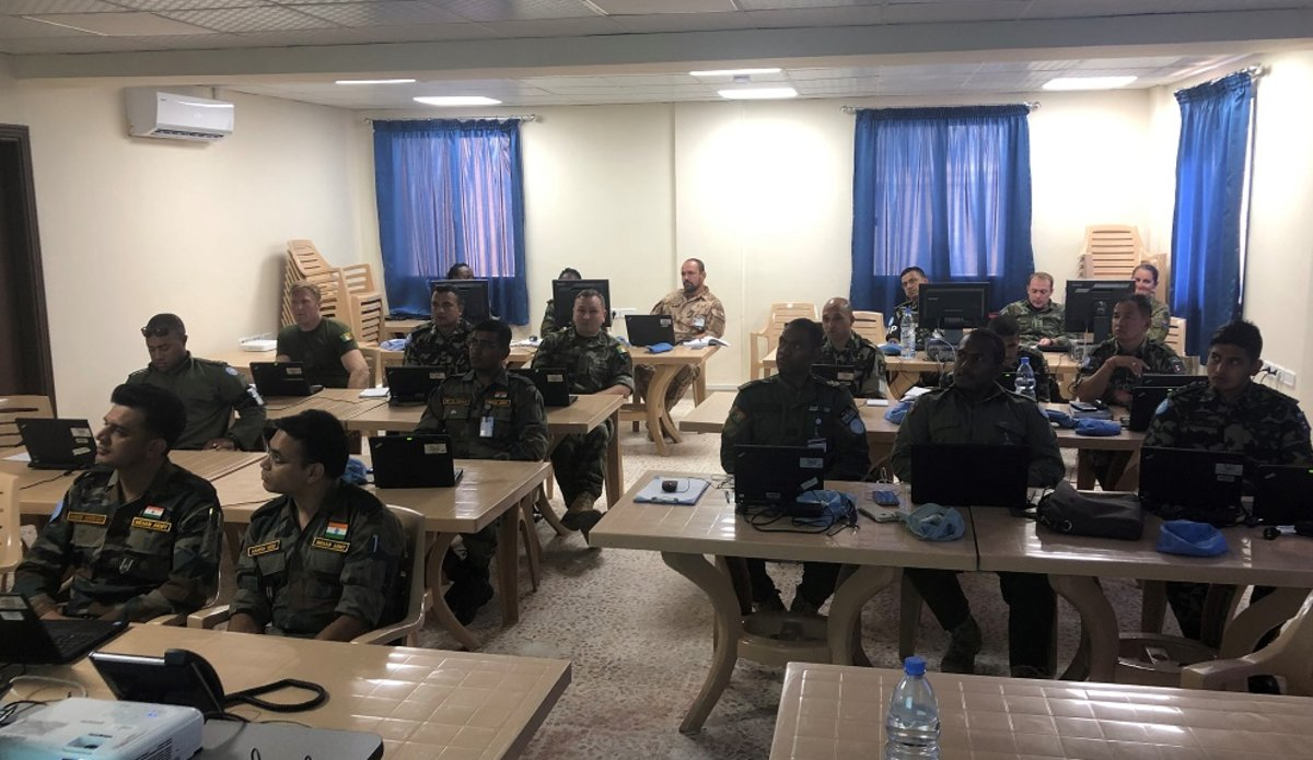 Staff Officers of UNDOF HQ and OGG in Class during SAGE instruction
