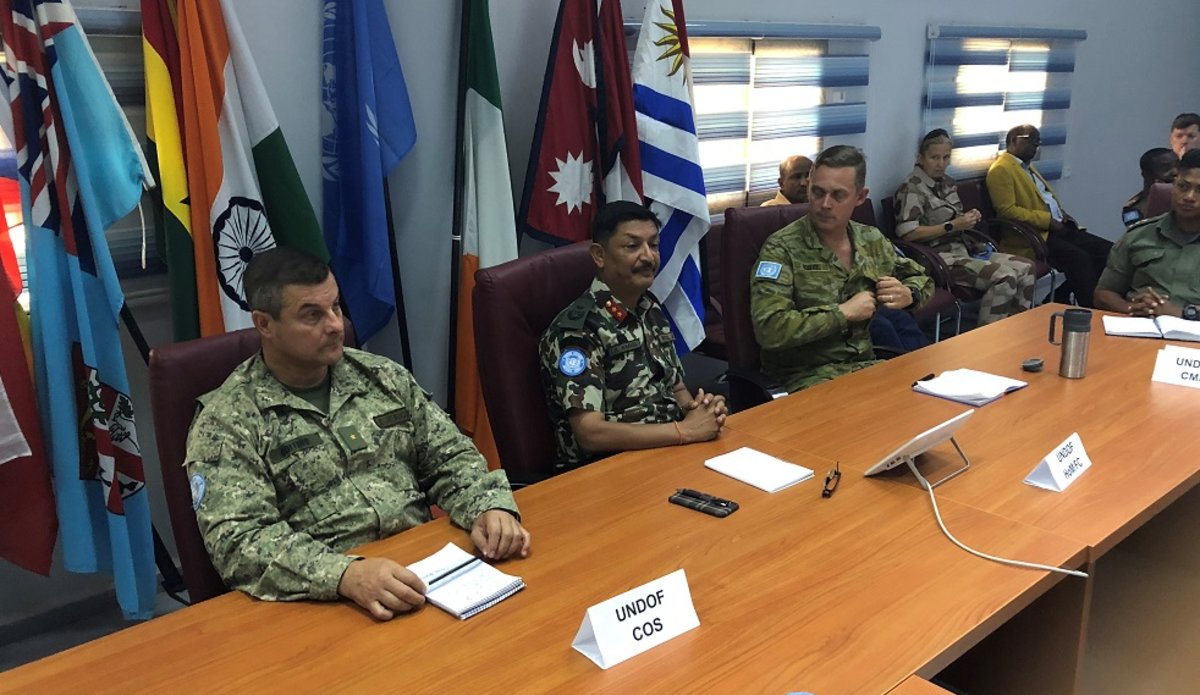 Colonel Scott recieved a comprehensive brief on the current operational activites of UNDOF