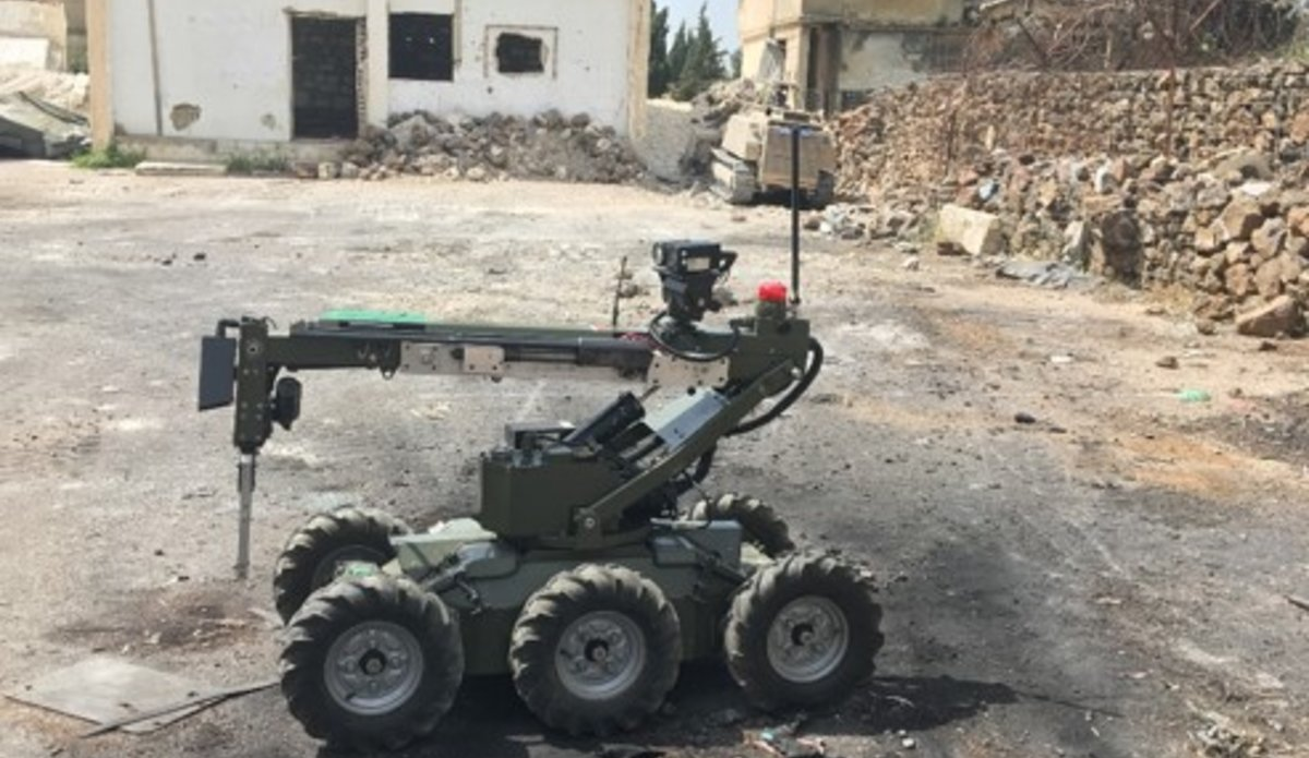 HOBO Robot used to assist with ESST Clearance Operations used by FRC 60 Inf Gp Irish Defence Forces currently deployed with UNDOF