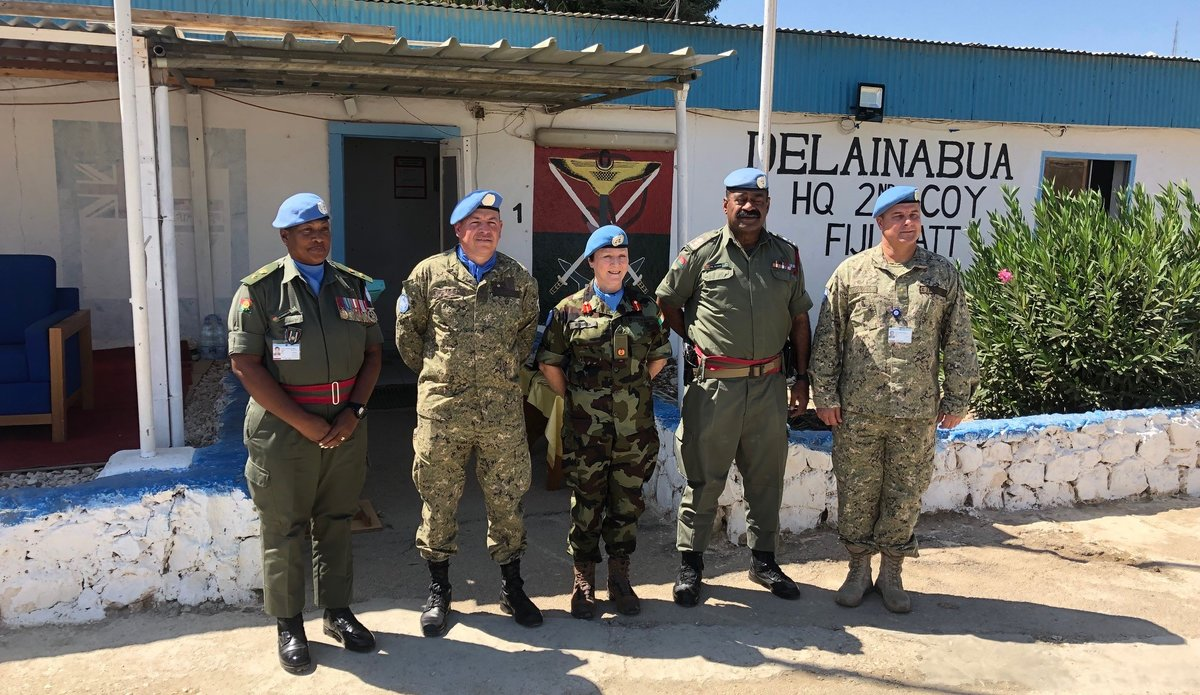 DFC UNDOF, COS UNDOF, O/C UMIC, O/C Fiji Batt and CMPO UNDOF were present at the HOTO Ceremony
