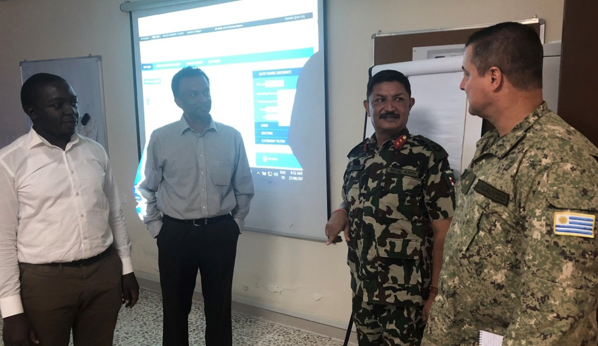 HoM and FC also Chief Of Staff UNDOF are given a demonstration of the abilities of the SAGE IT System