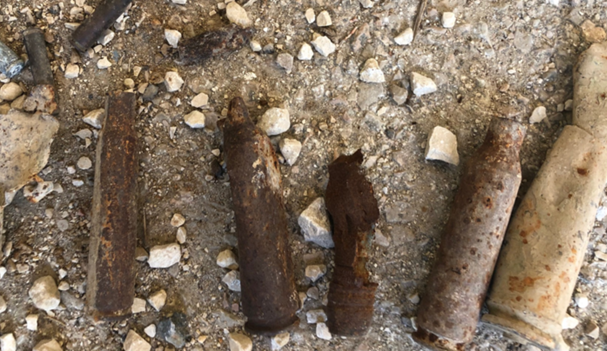 Some of the Ordnance discovered during the search.