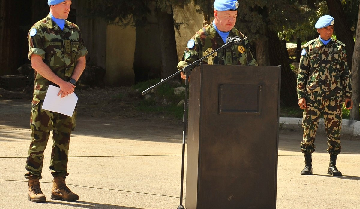 The Irish padre Fr Murphy said a short prayer and blessed all peacekeepers.