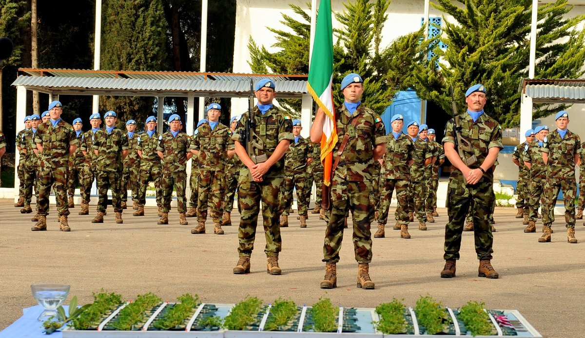 FRC 60 Inf Gp UNDOF Irish Contingent on parade.