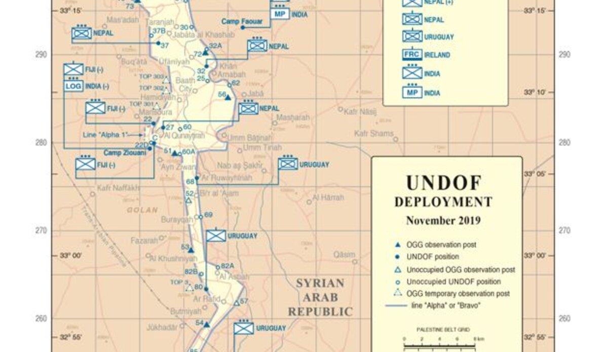 UNDOF Deployment Map, November 2019