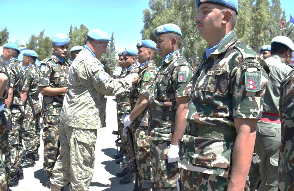 Chief of Staff UNDOF presents UNDOF Peacekeeping Medals to Members of NMC