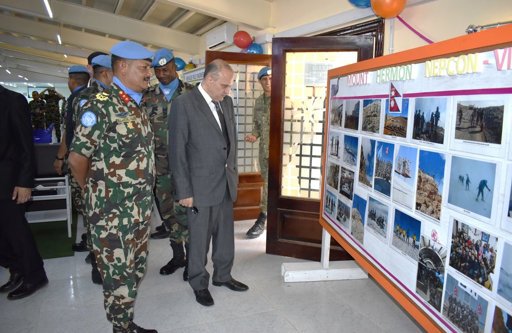 HoM and FC with SSAD view the presentation during the Nepalese Medal Parade