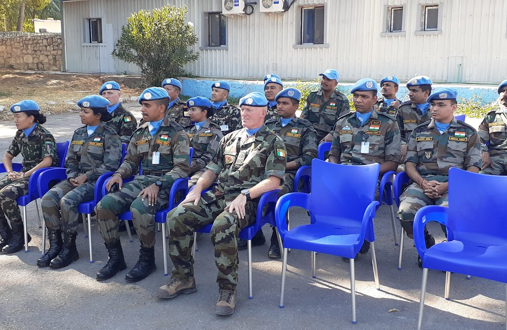 Invited guests to mark the occasion of the Stand Down Parade of DFC to UNDOF Brig Gen Kuldip Pattok