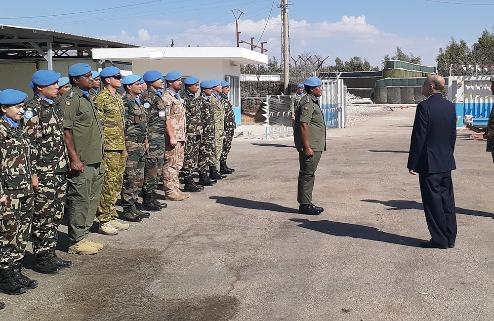 CMPO undof hands over the parade of Staff Officers to FC and SSAD.
