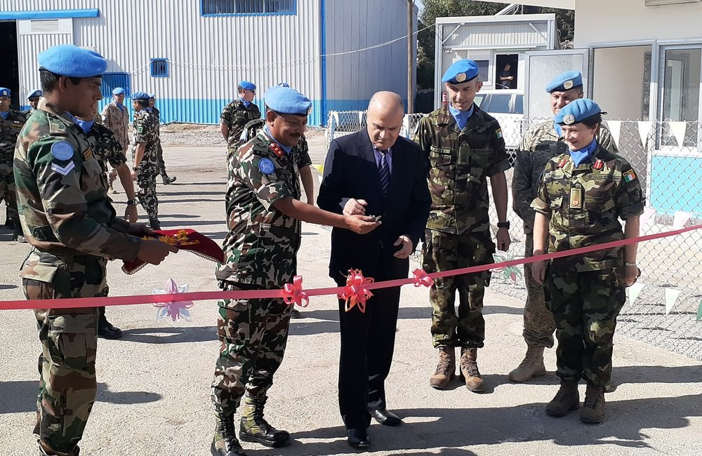 HoM and FC Maj Gen Shivaram Kharil , SSAD and DFC Brig Gen Maureen O Brien Offically Open the North Gate in Camp Faouar.